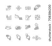 money set icons vector | Shutterstock .eps vector #708386200