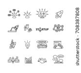 business and startup icons set... | Shutterstock .eps vector #708387808