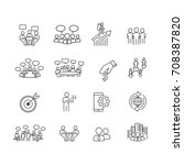 people and business icons set... | Shutterstock .eps vector #708387820