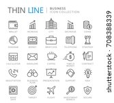 collection of business thin... | Shutterstock .eps vector #708388339
