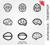 brain icons vector   Shutterstock .eps vector #708389029