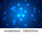 blue hexagon pattern   abstract ... | Shutterstock .eps vector #708392416