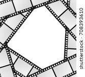 cinema movie film stripe or... | Shutterstock .eps vector #708393610