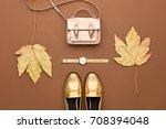 autumn arrives. fall fashion... | Shutterstock . vector #708394048