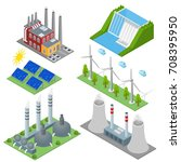 renewable resources and... | Shutterstock .eps vector #708395950