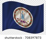 waving flag of virginia is a... | Shutterstock .eps vector #708397873