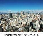 aerial view of osaka  japan | Shutterstock . vector #708398518