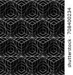 black and white geometric... | Shutterstock .eps vector #708400234
