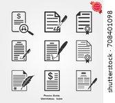 contract icons vector | Shutterstock .eps vector #708401098