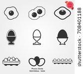 egg icons  egg icons vector ... | Shutterstock .eps vector #708401188