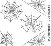 halloween spider web isolated... | Shutterstock .eps vector #708403669