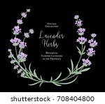 the lavender vintage card with...   Shutterstock .eps vector #708404800