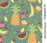 vector seamless pattern with... | Shutterstock .eps vector #708404974