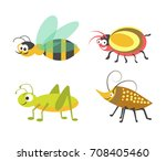 friendly wasp  ridiculous... | Shutterstock .eps vector #708405460
