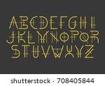 modern uppercase geometric font ... | Shutterstock .eps vector #708405844