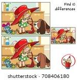 little girl in her mother's... | Shutterstock .eps vector #708406180