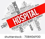 hospital word cloud collage ... | Shutterstock . vector #708406930