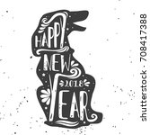 typographical greeting card.... | Shutterstock .eps vector #708417388