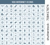 unique thin line icons set of... | Shutterstock .eps vector #708417874