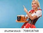young sexy oktoberfest girl  ... | Shutterstock . vector #708418768