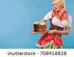 young sexy oktoberfest girl  ... | Shutterstock . vector #708418828
