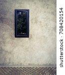 concrete walls with floor ... | Shutterstock . vector #708420154