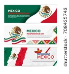 mexico independence day... | Shutterstock .eps vector #708425743