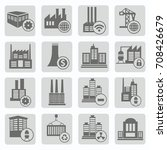 industry icon set vector | Shutterstock .eps vector #708426679