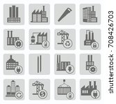 industry icon set vector | Shutterstock .eps vector #708426703