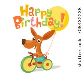 happy birthday vector card.... | Shutterstock .eps vector #708432238