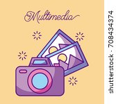 multimedia photographic camera... | Shutterstock .eps vector #708434374