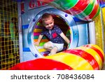 little boy playing in the maze | Shutterstock . vector #708436084