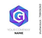 realistic letter g vector logo... | Shutterstock .eps vector #708436363