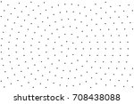 black and white round halftone... | Shutterstock .eps vector #708438088