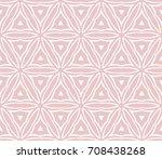 seamless geometry flower... | Shutterstock .eps vector #708438268