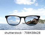 sunglasses with polarized lens... | Shutterstock . vector #708438628