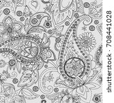 paisley. a pattern based on the ... | Shutterstock .eps vector #708441028