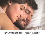 the man and woman relax in the... | Shutterstock . vector #708442054