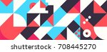 simple banner of decorative... | Shutterstock .eps vector #708445270