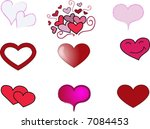 vector hearts set in different... | Shutterstock .eps vector #7084453