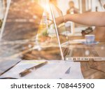 graphic design working... | Shutterstock . vector #708445900