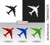 airplane icon | Shutterstock .eps vector #708446374