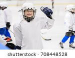 kids hockey.  | Shutterstock . vector #708448528