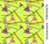 seamless pattern geometric... | Shutterstock .eps vector #708450670