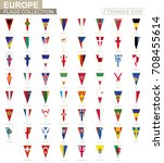 flags of europe  all european... | Shutterstock .eps vector #708455614