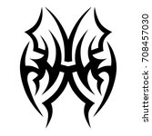 tribal tattoo art designs.... | Shutterstock .eps vector #708457030