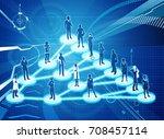 an illustration of... | Shutterstock . vector #708457114
