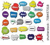 photo booth props speech... | Shutterstock .eps vector #708457318