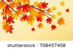 autumn leaves vector...   Shutterstock .eps vector #708457408