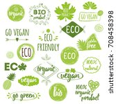 vector illustration bio  eco ... | Shutterstock .eps vector #708458398